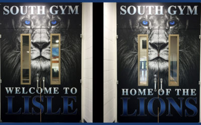 Lisle High School Gym Doors