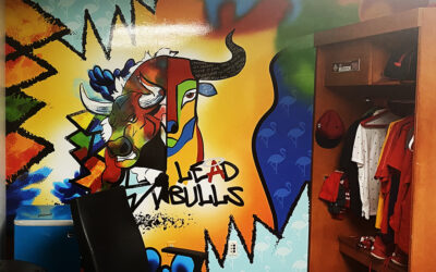 Joe Maddon's LA Office Mural and Metal Prints